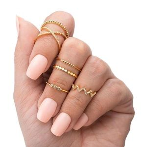 PENELOPE ✨ Gold Dainty Minimalist Set of Rings